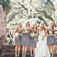 Bridesmaid Dresses, Fashion, gray, silver, Southern Real Weddings, south carolina weddings, south carolina real weddings
