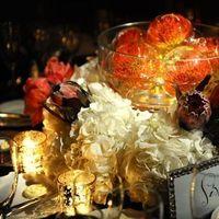 Flowers & Decor, Real Weddings, orange, Centerpiece, Destination, Glamorous, Hydrangea, Formal, Dramatic, pincushion protea, florida real weddings, florida weddings