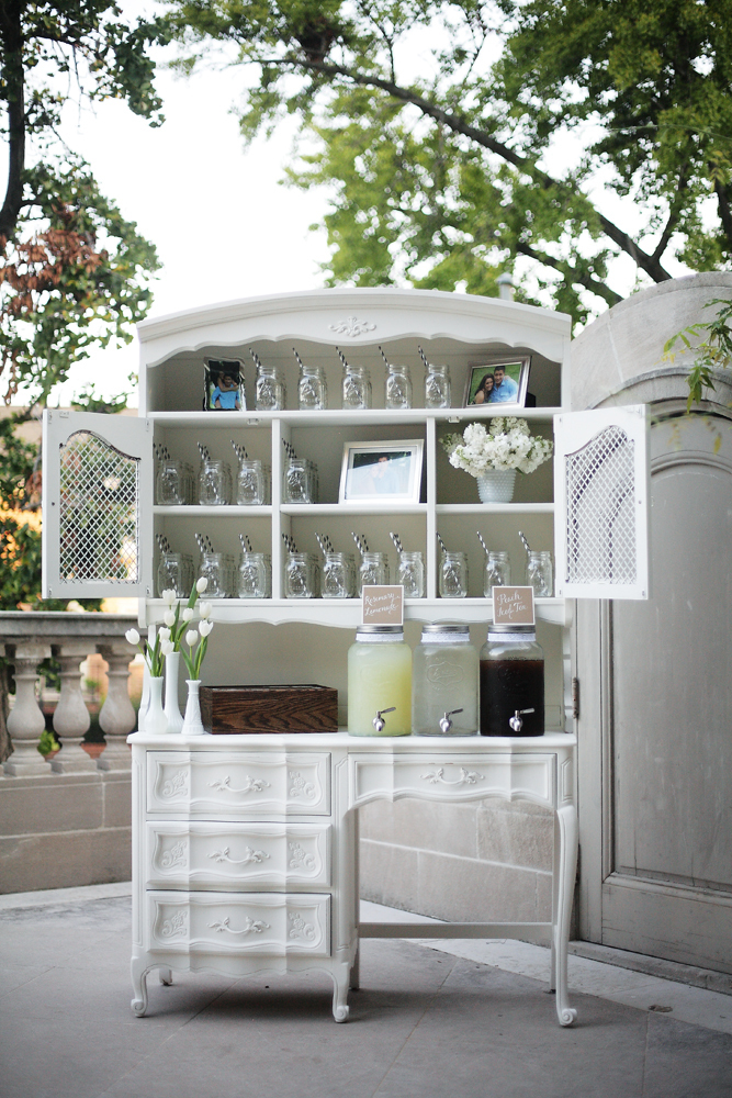 Reception, Real Weddings, ivory, Elegant, Chic, Lemonade, Refreshments, Sophisticated, Mason jars, Northeast weddings, washington dc real weddings, washington dc weddings
