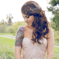 Bride with Half Sleeve Tattoo