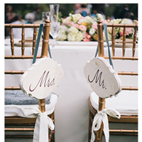 Classic Mr and Mrs Chair Signs