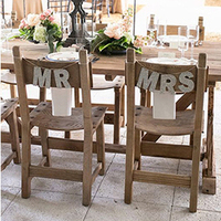 Glittery Mr and Mrs Chair Signs