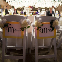 Mr and Mrs Chair Decor