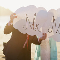 Mr and Mrs Cloud Signs