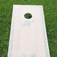 Monogrammed Cornhole Board