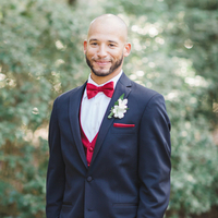 Groomsman in Red
