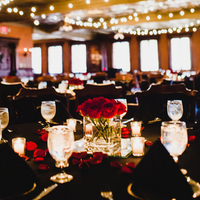 Romantic Red Reception Decor