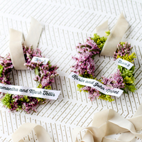 DIY: Flower Wreath Escort Cards
