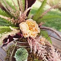 Fern and Astilbe Centerpiece