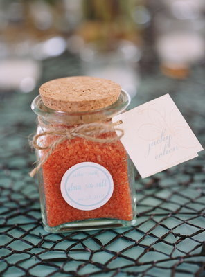Bath salt wedding favors