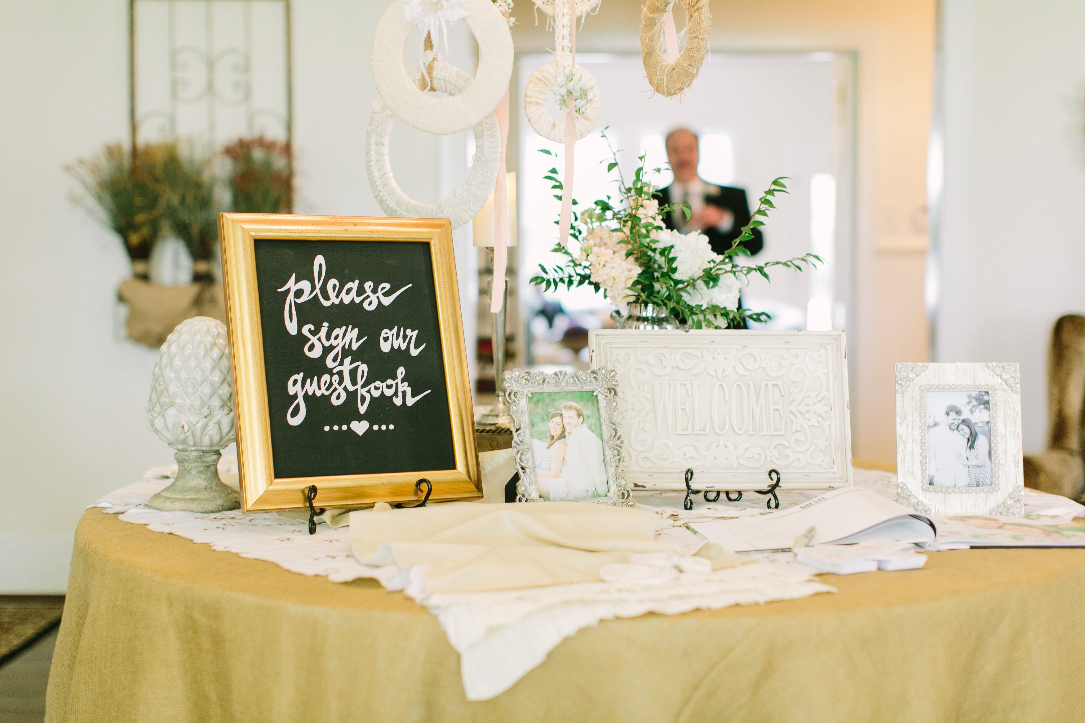 the theme for the welcome table Maybe we're a little bit biased, but here at the knot shop, we think coordinating wedding table decorations is one of the most enjoyable parts of the wedding planning.
