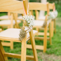 Baby's Breath Cone Aisle Markers