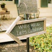 Will and Allie Chalkboard Sign