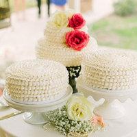White Ruffle Cakes