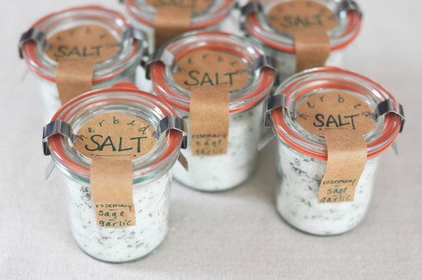 Gourmet Sea Salt Favor Jars