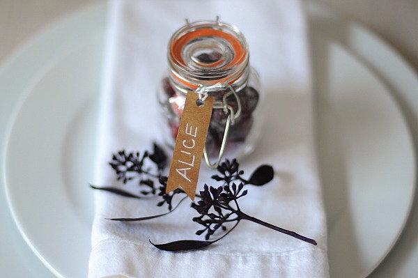 Sugared Cranberry Favor Jars