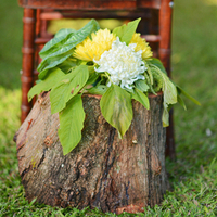 Rustic Beach Aisle Markers