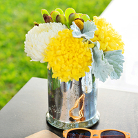 Festive Fall Beach Centerpieces
