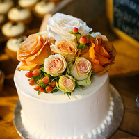 Rustic Rose Wedding Cake