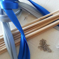 DYI Double Strand Satin Ribbon Wedding Wands with Silver Bells