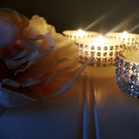 Rhinestone Tea Light Wedding Candles Silver Bling Bridal Sparkle Candle Holders