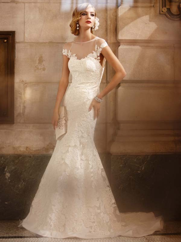 Davids bridal galina signature style swg561 fit to flare for Galina signature wedding dresses