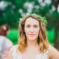 Molly's Bohemian Bridal Look