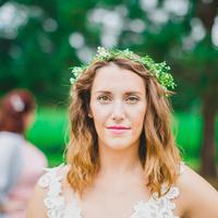 Molly's Bohemian Bridal Look