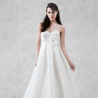 white, ivory, Sweetheart, Organza, Sleeveless, Ball gown