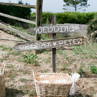 Beachy Ceremony Signage