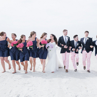 Preppy Beach Wedding Party