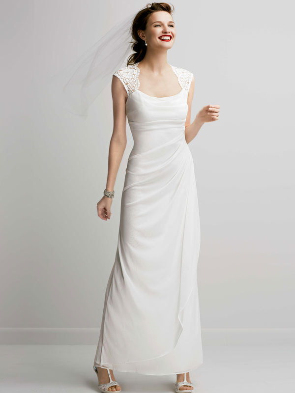 ivory, Strapless, Sheath, Floor, Jersey, Slim, Sleeveless