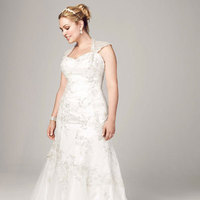 white, ivory, gold, Lace, Tulle, Trumpet, Satin, Cap