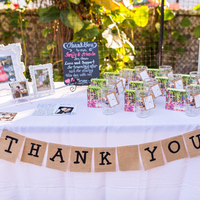 Colorful Favor Table