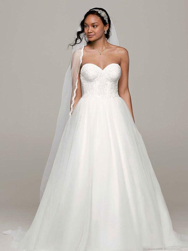 white, ivory, Sweetheart, Tulle, Floor, Sleeveless, Ball gown