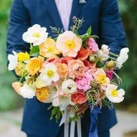 Poppy and Ranunculus Bouquet