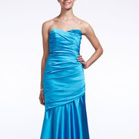 Long, Sweetheart, Fit and flare, Satin, Sleeveless, available in all colors