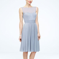 A-line, Short, Sleeveless, Mesh, bateau, available in all colors