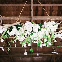 Hanging Tulips and Clematis