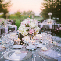 Pink and Gray Tablescape