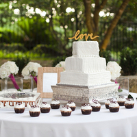Square Shaped Wedding Cake