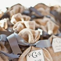 Embroidered Wedding Favor Tag