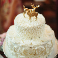 Deer Topper Fall Wedding Cake