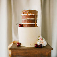 Naked Fall Wedding Cake