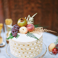 Fruit-Topped Fall Wedding Cake