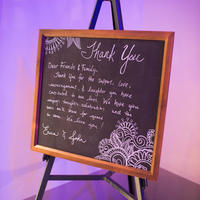 Chalkboard Thank You Sign