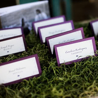 Deep Purple Escort Cards