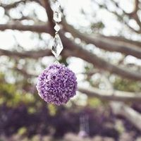 Hanging Purple Pomander