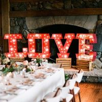 Large LOVE Marquee Letters