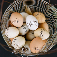 Calligraphy Egg Escort Cards